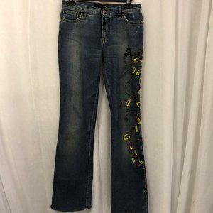 Roberto Cavalli Just Cavalli Jeans Painted Beaded